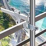 BMOT Sonnenschirmhalter Balkongeländer - Kompakter Sonnenschirmständer Balkon für Schirme Stockgröße 25-32 mm – Platzsparend, stabil
