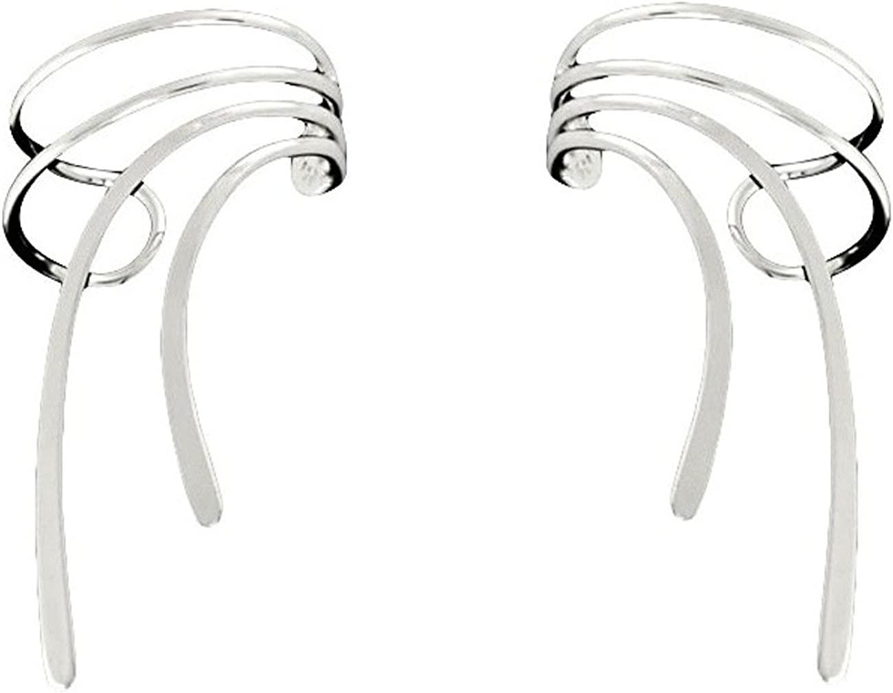 Max 50% OFF Sterling Silver Wood Sprite Set Cuff Wrap Special price for a limited time Ear