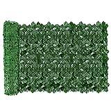 AGJIDSO Siepe Artificiale per Balconi, 1x3m Siepe Finta Foglie Edera, Siepe Artificiale Rotolo per Recinzione, Ringhiera