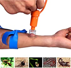 WAEKIYTL Snake Bite Kit, Bee Sting Kit, Emergency First Aid Supplies, Venom Extractor Suction Pump, Bite and Sting First Aid for Hiking, Backpacking and Camping. Includes Bonus CPR face Shield
