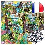 MADE IN FRANCE - Puzzle 1000 pieces adultes 'Drôles d'animaux' - Pièces et boîte de rangement carton de haute qualité, provenant de bois éco-responsable