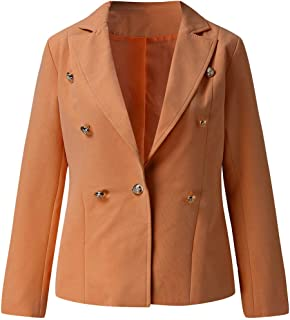 Womens Blazer Jacket Solid Ladies Open Front Cardigan Long Sleeve Casual Coat Jackets Lightweight Office Wear Bussiness Suit Outwear Blouse