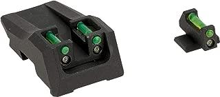 Evike Nine Ball Hybrid Tritium/Fiber Optic Combat Sight Set for Tokyo Marui Hi-Capa Gas Blowback Airsoft Pistols (Color: Green)