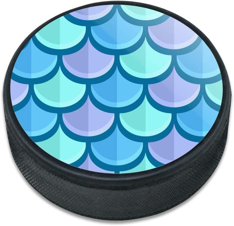 GRAPHICS MORE Mermaid OFFicial shop Fish Scale sold out Pattern Puck Hockey Ice
