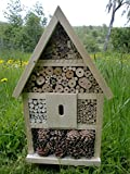 Insektenhotel Insektenhaus Bienen Insekten Handarbeit Nistkasten fertig bestückt 56x35x10cm NATUR