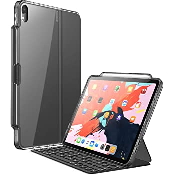 i-Blason iPad Pro 11 ケース 2018 第1世代 公式Smart folio& Smart keyword folio 併用 保護ケース Apple Pencil収納 黑