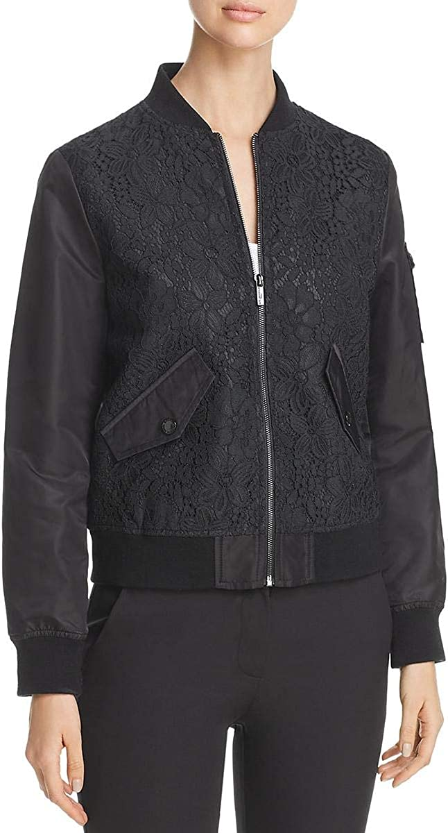 Karl Lagerfeld Paris Women's Lace Bomber Jacket