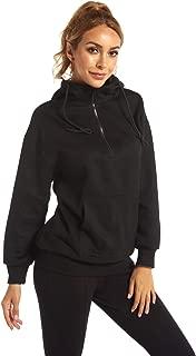Jackets for Women Plus Size, Active Full-Zip Mock Neck Hooded Jacket with Pocket Coat Winter