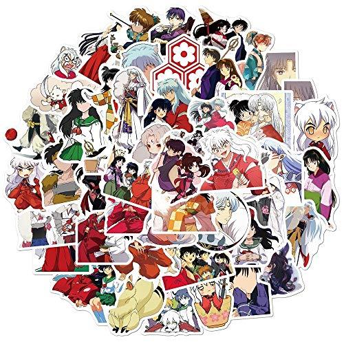 DUOYOU Dibujos animados japoneses anime inuyasha pegatinas impermeables linda etiqueta engomada para maleta portátil guitarra monopatín graffiti 50 unids