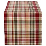 Cabin Plaid 100% Cotton Table Runner (14x108')