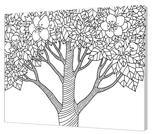 Pintcolor 7815.0 châssis avec Toile imprimée à colorier, Bois de Sapin, Blanc/Noir, 40 x 50 x 3,5 cm
