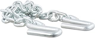 CURT 80301 48-Inch Trailer Safety Chain with 17/32-In S-Hooks, 7,000 lbs Break Strength