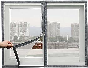 Vliegvenster scherm Mesh Insecten Netting met Rits Anti Mosquito Bug Waterbestendig Glasvezel Insect Net Zelfklevende Tapes