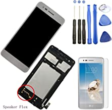 Eaglewireless LCD Display Screen Touch Digitizer Full Assembly Part Replacement for LG Aristo M210 MS210 / Phoenix 3 K8 20...