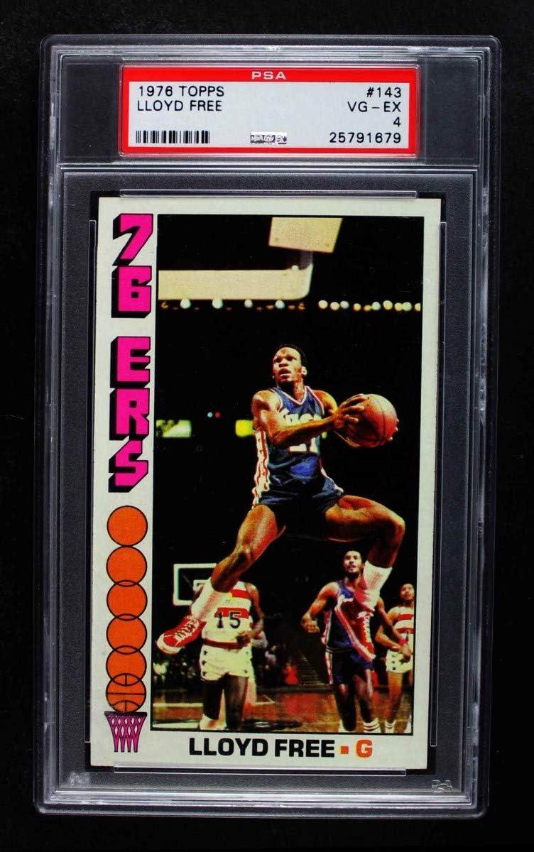 1976 Topps # 143 Lloyd Philadelphia Free Sale item 76ers Card wholesale Basketball