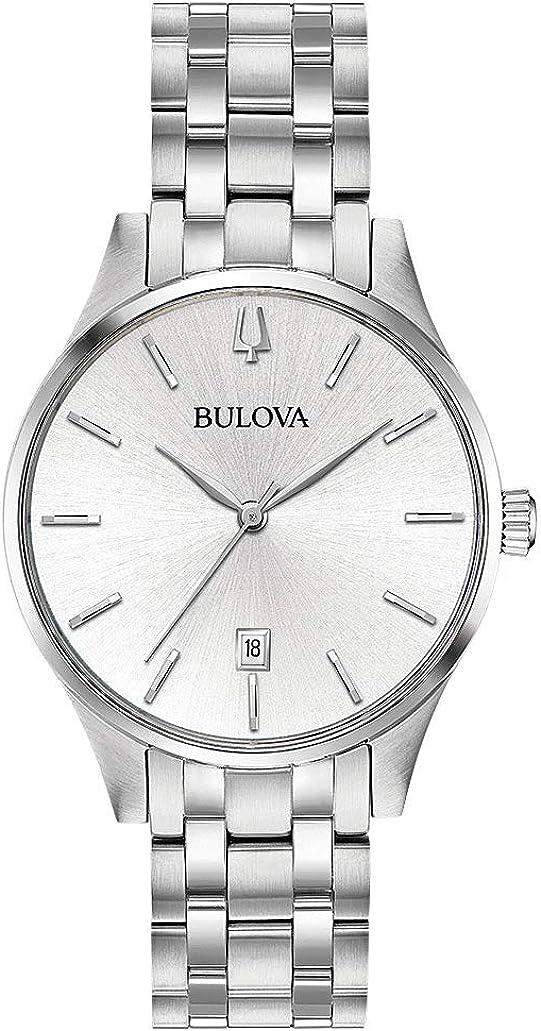 Bulova Reloj Analógico para Mujer de Cuarzo con Correa en Acero Inoxidable 96M148