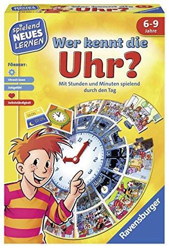 Ravensburger 24995 - Wer kennt die Uhr? - Spielen und Lernen für Kinder, Lernspiel für Kinder ab 6-9 Jahren, Spielend Neues Lernen für 1-4 Spieler
