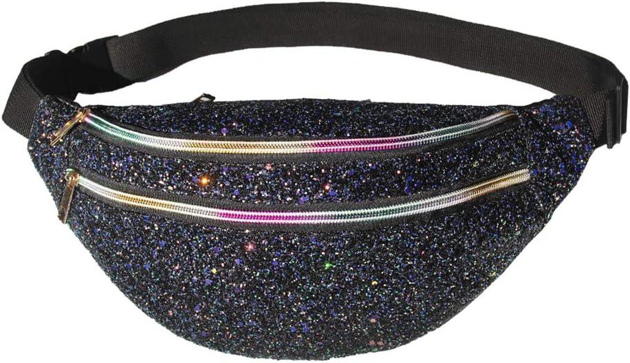 ICOSY Finally popular brand Fanny Pack Women Waist Crossbody San Antonio Mall Bags Shiny W Glitter