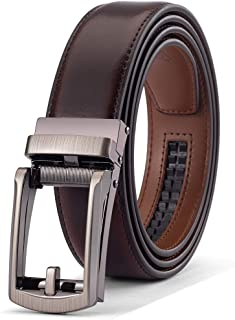 """Men's Comfort Genuine Leather Belt with One Click Buckle, Fit for 28-38"""""""
