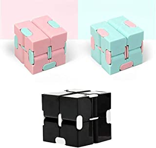 3pcs Infinity Cube Fidget Toy,Sensory Infinity Cube Autism Relief Toys,Stress Anxiety Relief Toys Suitable For Adults & Kids