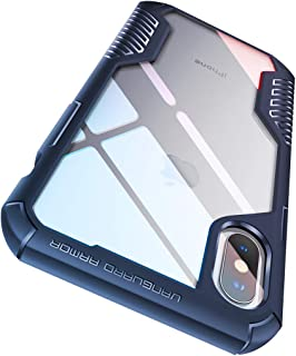 MOBOSI Vanguard Armor Designed for iPhone Xs Max Case, Rugged Cell Phone Cases, Heavy Duty Military Grade Shockproof Drop Protection Cover for iPhone 10xs Max 2018 6.5 Inch (Navy Blue)
