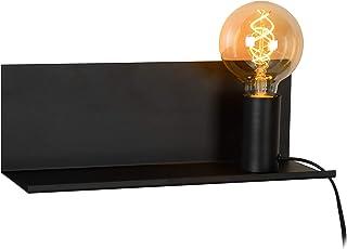 Lucide 06218/01/30 Sebo Lampe de Chevet, Métal, E27, 40 W, Noir, 35 x 12 x 12 cm