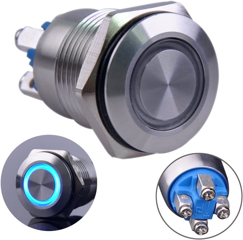 Ulincos Momentary Pushbutton Max 84% OFF Switch U16B1 1NO Stainless Silver S security