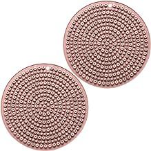 Minkissy 2pcs Silicone Pot Holders Hot Pads Trivet Mats Heat Resistant Non Slip Coasters Kitchen Pot Pads Placemats for Pa...