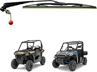 KEMIMOTO UTV Manual Hand Operated Windshield Wiper Assembly Compatible with Polaris Ranger RZR 900 1000 General Can am Mav...