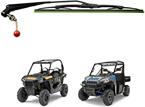 KEMIMOTO UTV Manual Hand Operated Windshield Wiper Assembly Compatible with Polaris Ranger RZR 900 1000 General