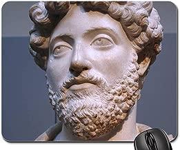 Mouse Pads - Marcus Aurelius Roman Emperor Statue Face Beard