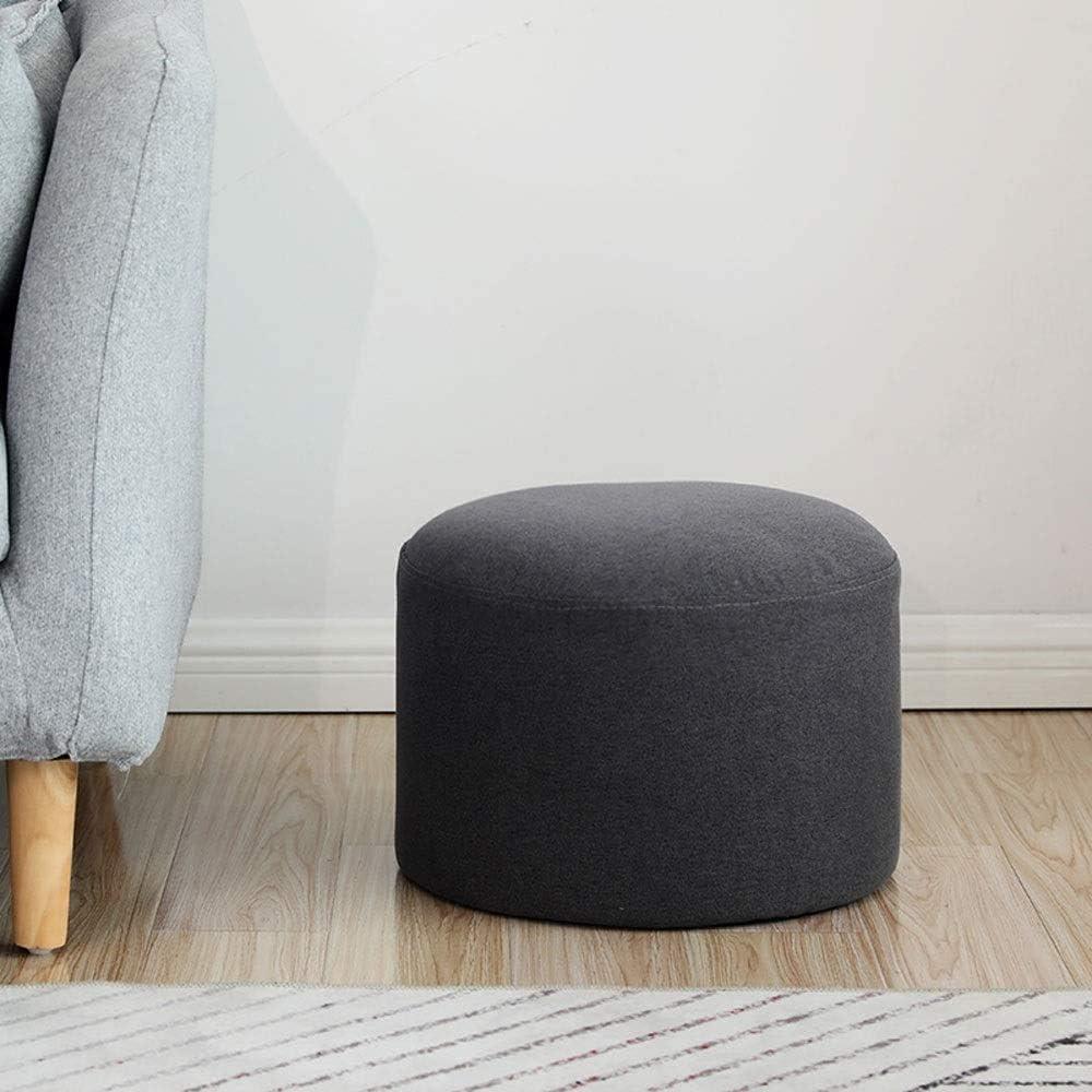 Tabouret de bar Creative Accueil Chaussures Banc multifonctions Ménage Solide Couleur Tissu Petit Banc en bois chaise haute YZJL (Color : Dark Gray) Dark Gray
