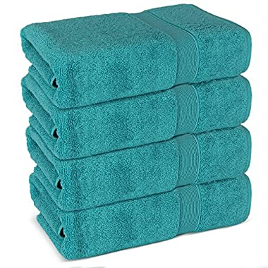 Superior Long-stable Turkish Bath Towel Set, 700 GSM cotton terry makes the luxe-factor (Aqua)