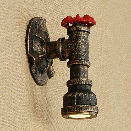 Applique industrielle vintage en fer forgé