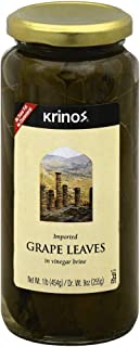 Krinos Imported Grape Leaves, 16 Ounce (Pack of 6)