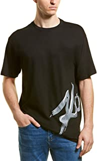 Mens Karl Wrap T-Shirt, M, Black