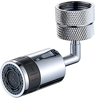 FitBest Kitchen Bathroom Faucet Aerator, 720 Degree Big Angle Rotation Dual Water Flow Modes for Face Washing Gargle & Eye...