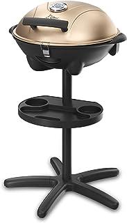 SUNTEC Grill sur pied electrique BBQ-9479 [bonnet détachable avec indication de la température, tableau intégré, plaque à ...