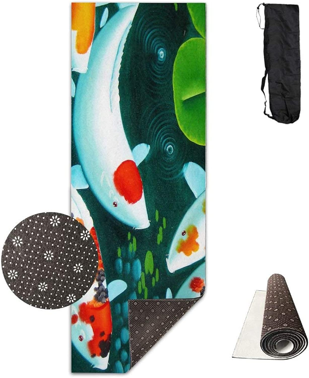 colorful Carp Painting Deluxe Yoga Mat Aerobic Exercise Pilates