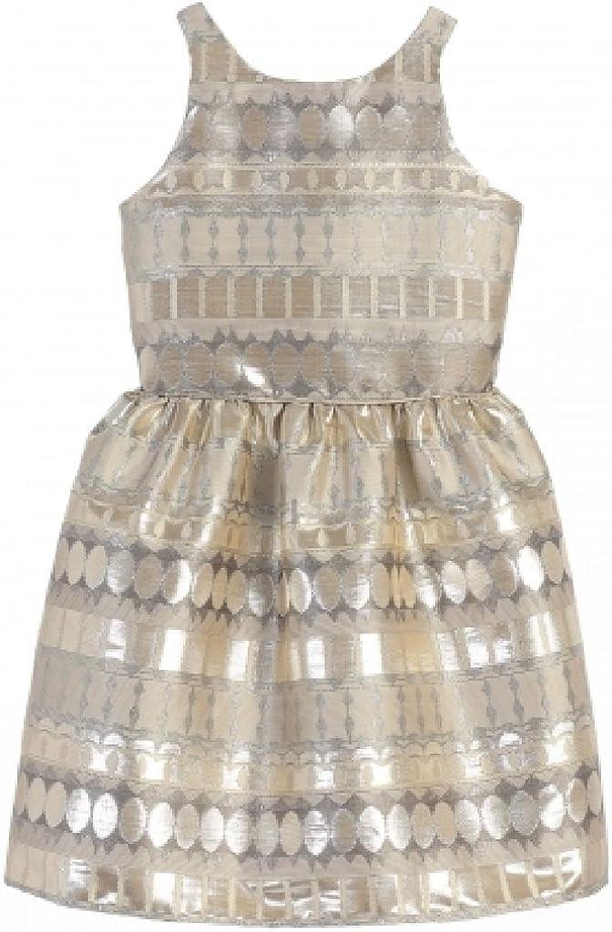 Little Girls Stunning Metallic Jacquard Special Flowers Girls Dresses