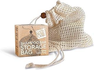 Good Cube Eco-Friendly Solid Shampoo Bar Hemp Storage Bag - Zero Waste, Compostable - Holds 2 x 120g Shampoo and Conditioner Bars