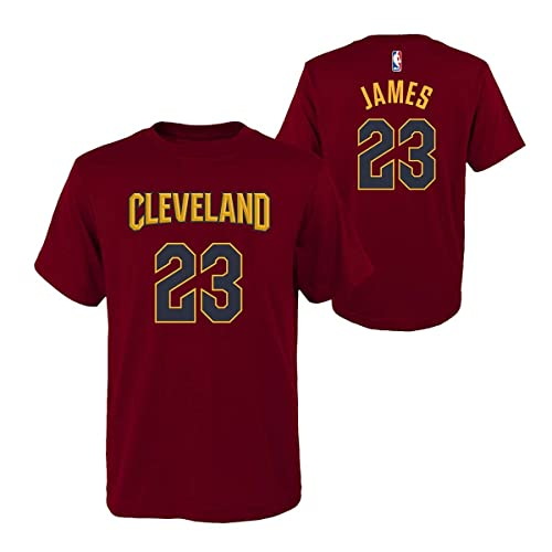 reputable site 19a1c 2f24c Outerstuff Lebron James Cleveland Cavaliers Youth Maroon Name and Number  Player T-Shirt