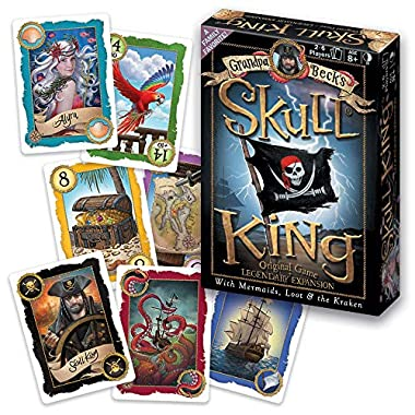 Grandpa Beck's Skull King: The Original Game + Legendary Expansion: Updated With New Artwork, and Optional Expansion Rules and Cards Including Mermaids, Loot, and The Kraken