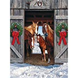 Horse Barn Christmas is a 1000 piece jigsaw puzzle designed by Russell Cobane. Our Jigsaw Puzzles are made with recycled cardboard. Die-cut puzzle pieces are easy to handle - and no two are alike. Our 1000 Piece Puzzles are exciting and challenging t...