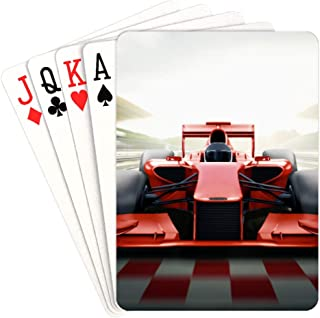 NaNa Child Playing Cards Race Car in Racing Car Track Decks of Playing Cards Unique for Kids & Adults Card Decks Games Standard Size