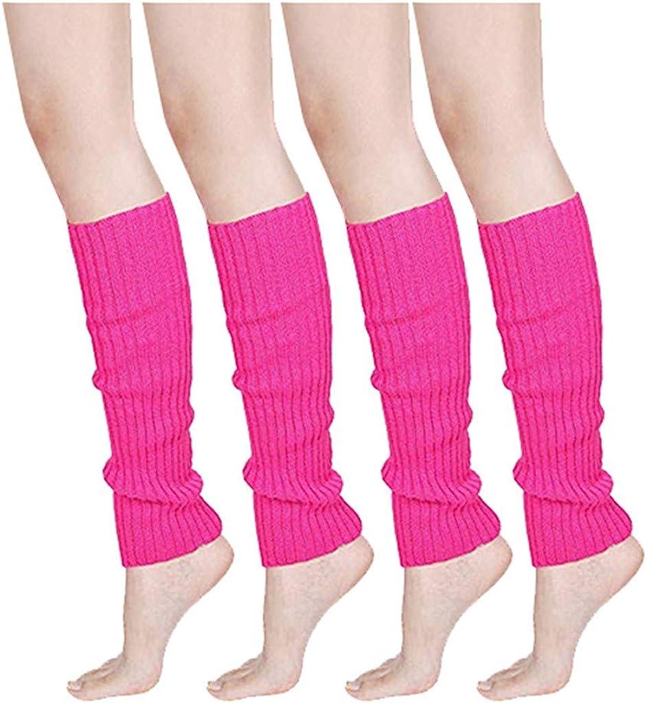 Women Men Fluorescence Color Washington Mall Stripe Leg Boot OFFicial shop Cuffs Warmer Knit