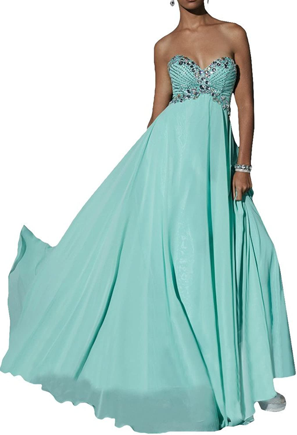 Avril Dress Vintage Beading Sweetheart Empire Prom Evening Party Dress Long