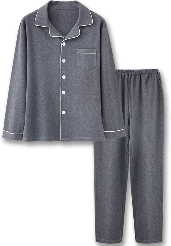 Men'S Pajama Set Long Sleeve Sleepwear For Men Dark Gray 3Xl