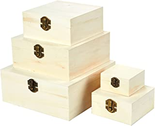 Cajas de madera con tapa abatible, caja de nido de madera (5