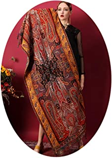 Scarfs for Women Shawls and Wraps for Evening Dresses Scarves and Wraps Women Winter Warm Scarves Suitable for Office Party Dates Wool Beading Indian Retro Court Rework National Style